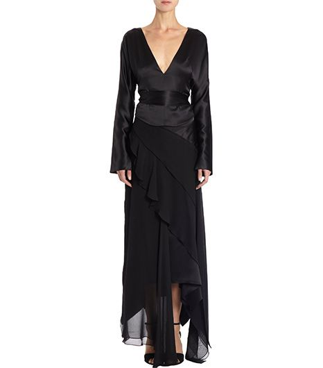 Juan Carlos Juan Carlos Obando Two-Piece Slash Sleeve Floor Length Dress