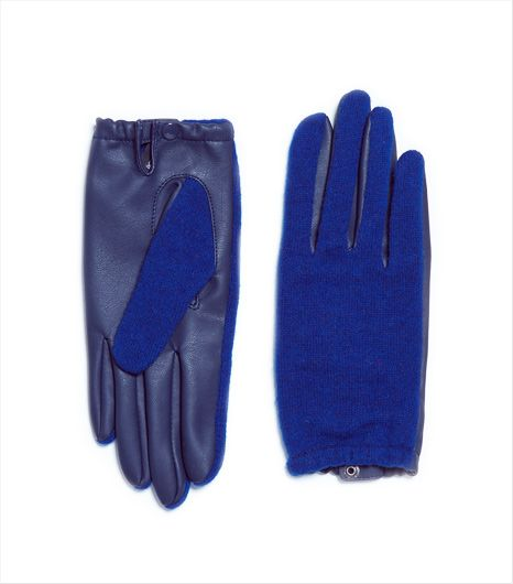 Zara Zara Short Faux Leather Gloves
