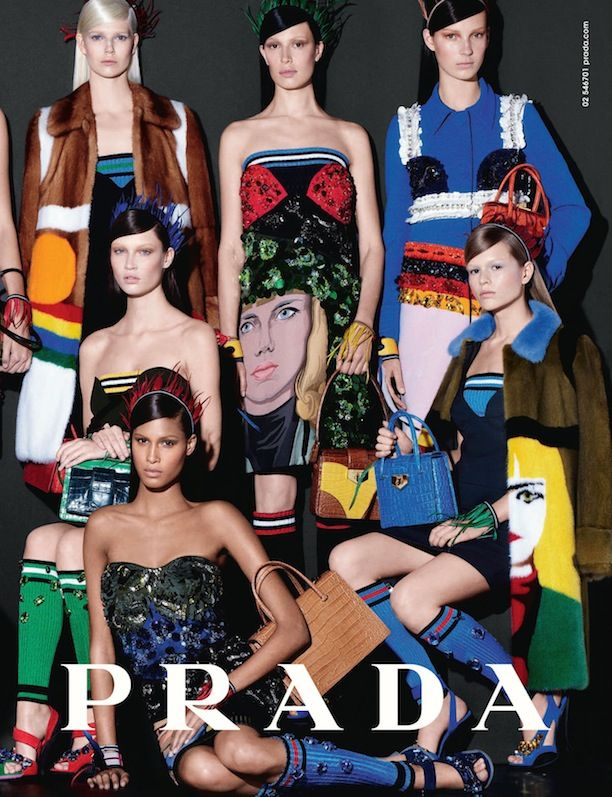 A First Glimpse At Prada's Colourful S/S 2014 Campaign