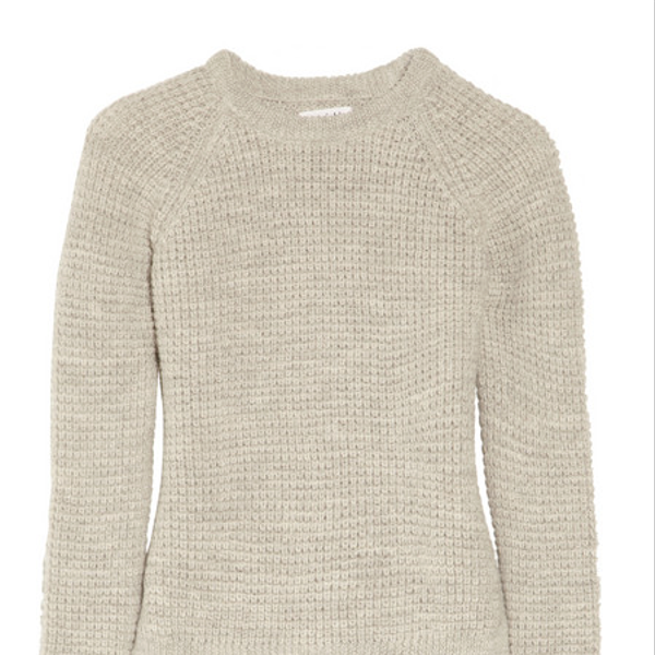 MiH Jeans  Waffle-Knit Wool and Alpaca-Blend Sweater