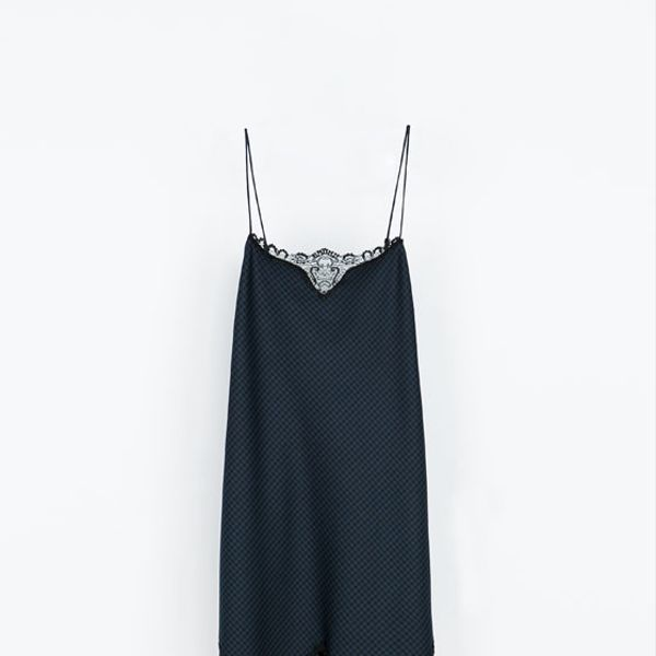 Zara  Lingerie-Style Studio Dress