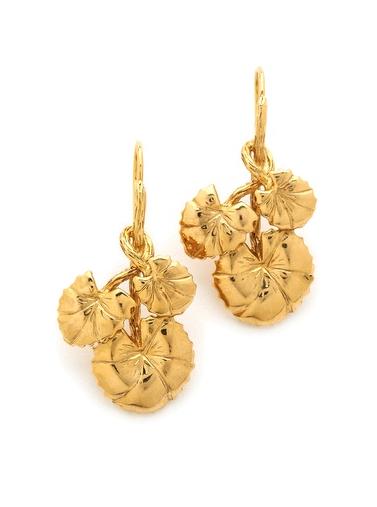 Aurelie Bidermann  Nympheas Leaves Earrings