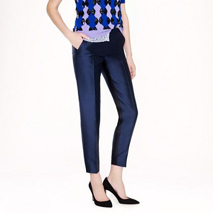 J.Crew  Collection Café Capri Reverse Tuxedo Pants