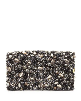 Alice + Olivia  Be Jeweled Embellished Clutch Bag