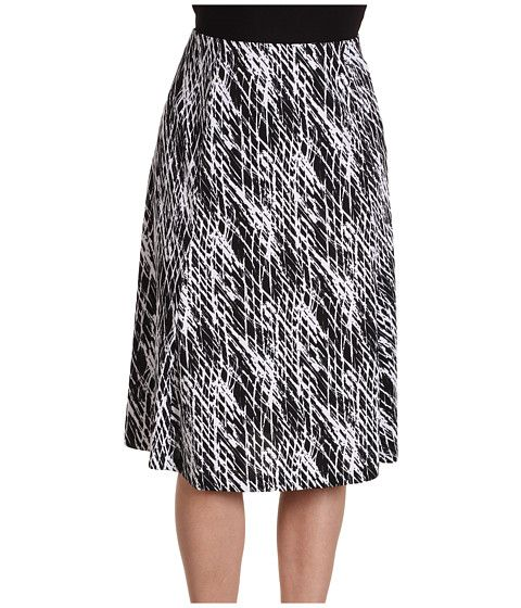 Jones New York  Gramercy Park Printed Flare Skirt