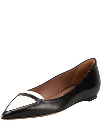 Tabitha Simmons  Alexa Bicolor Point-Toe Ballerinas