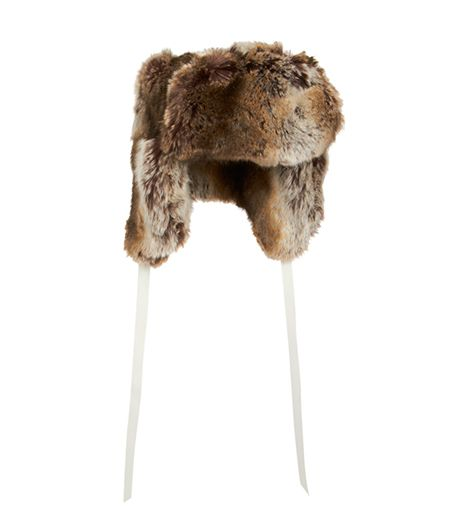 Barneys  New York Faux Fur Trapper Hat