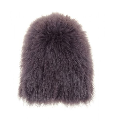 Yves Salomon  Raccoon Fur Hat