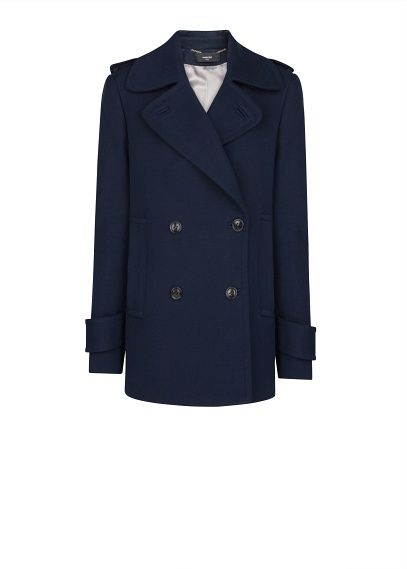 Mango  Wool Cotton-Blend Peacoat