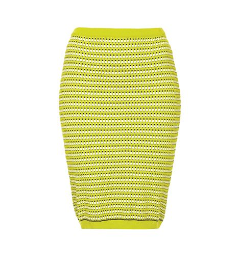 Topshop Geo Knit Pencil Skirt