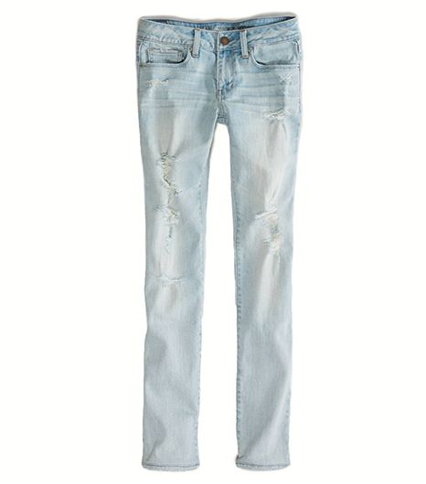 American Eagle Outfitters Skinny Jean in Light Destroy Vintage