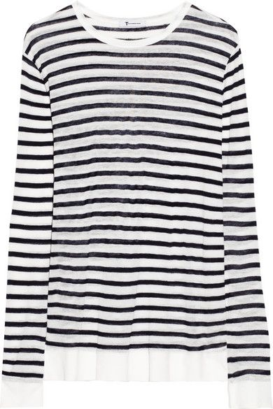 Alexander Wang  Striped Fine-Knit Top