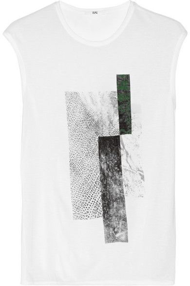 Helmut Lang Printed Jersey T-Shirt