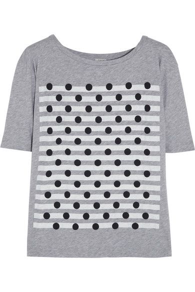 J.Crew  Dot Stripes Printed Cotton-Jersey T-Shirt