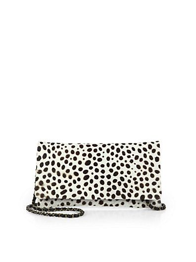 Beirn  Calf Hair Convertible Wallet Clutch
