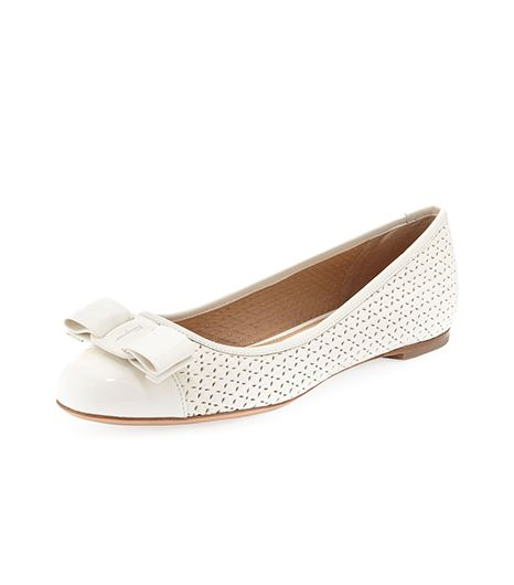 Salvatore Ferragamo  Varina Perforated Ballerina Flats