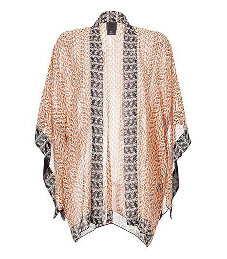Anna Sui  Silk Printed Open Front Kimono