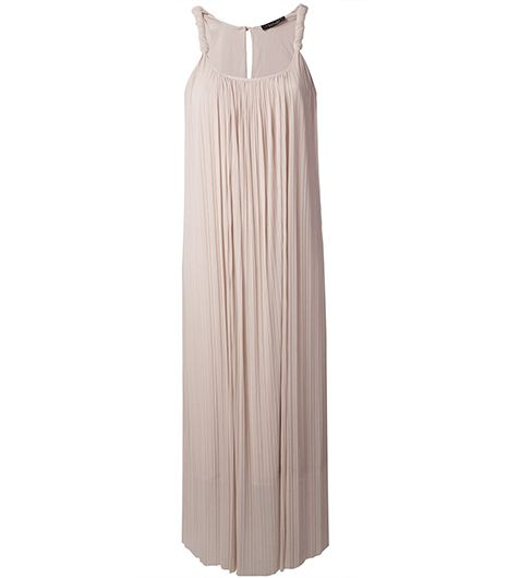 Twin-Set  Twin-Set Pleated Crepe Maxi Dress
