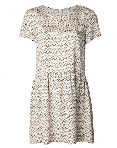 Sea Popover Drop Waist Dress