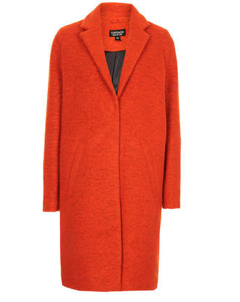 Topshop Wool Boyfriend Coat