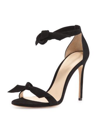 Alexandre Birman  Suede Tie-Front Sandals