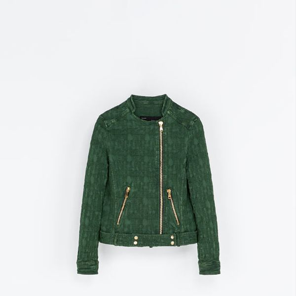 Zara  Jacquard Jacket with Zips