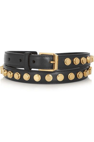 Saint Laurent  Monet Studded Leather Belt