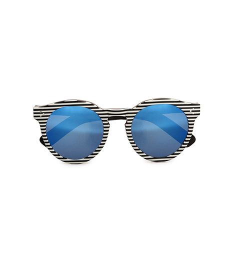 Illesteva  Illesteva Leonard II Stripes With Blue Mirrored Lenses