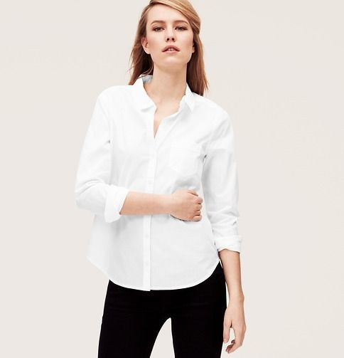LOFT Softened Shirt in White