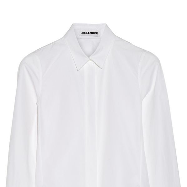 Jil Sander Pina Cotton-Poplin Shirt in White