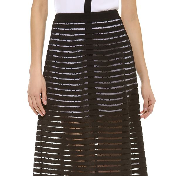 Cynthia Rowley Midi Skirt in Black