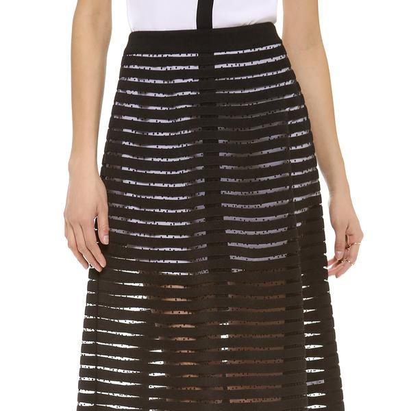 Cynthia Rowley Midi Skirt in Black