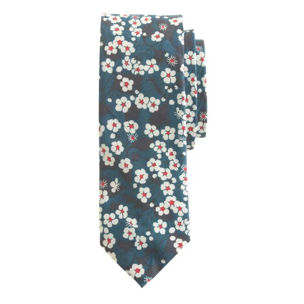 J. Crew Liberty Tie in Bright Nightfall Floral