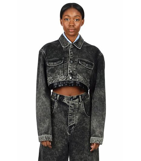 Martine Rose  Martine Rose Cropped Denim Jacket