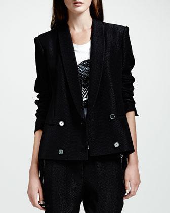 Stella McCartney  Python Jacquard Blazer