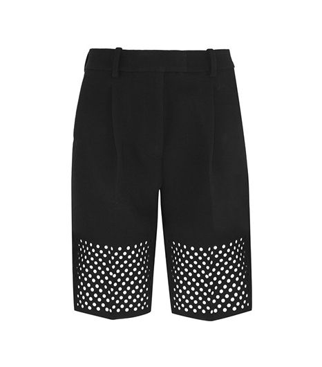 3.1 Phillip Lim 3.1 Phillip Lim Laser-Cut Crepe Shorts
