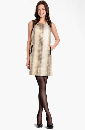 LABEL by five twelve  Metallic Jacquard Shift Dress