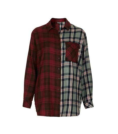 Topshop  Topshop Oversize Contrast Check Shirt