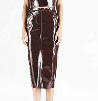 Kahlo Luminosity Leather Skirt