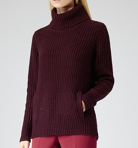 REISS  Chunky Roll Neck Jumper