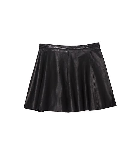 Love Leather  A-Line Leather Skirt