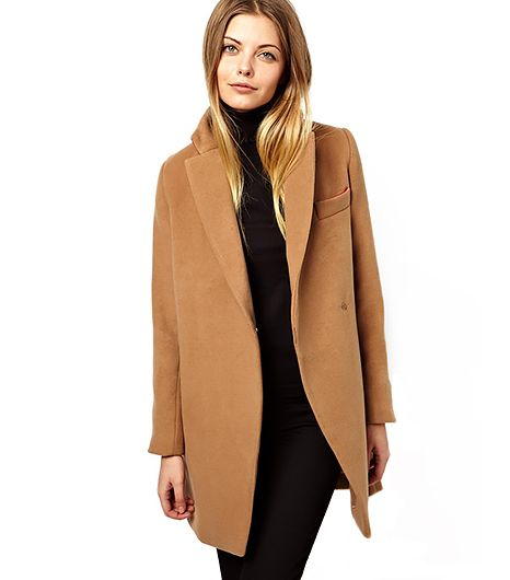 ASOS  Exclusive Coat with Contrast Collar