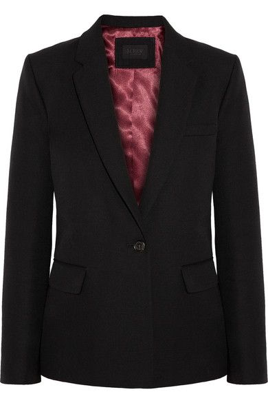 J.Crew  Wool Cotton And Mohair-Blend Blazer