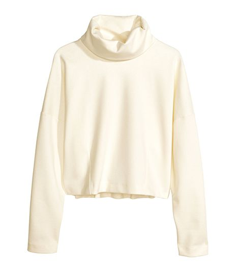 H&M  H&M Turtleneck Top ($40) in White