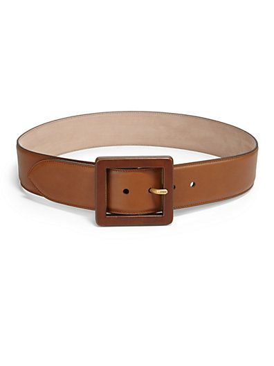 Gucci  Wide Leather Belt