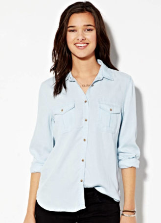 American Eagle Safari Button Down Shirt
