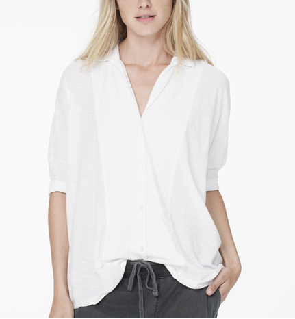 James Perse  Sheer Slub Button Up Shirt