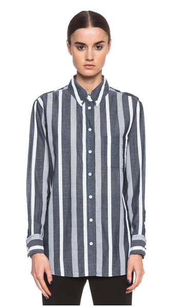 Equipment  Margaux Sartorial Stripe Button Up