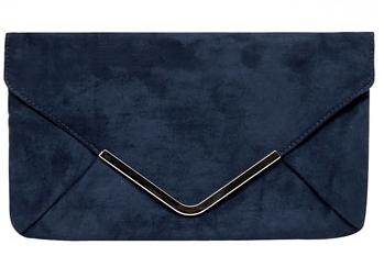 Dorothy Perkins  Navy Envelope Flapover Clutch