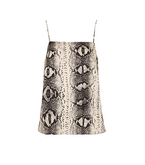Topshop Straight Neck Snake Print Cami